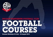 Bolton Wanderers Football Courses 'Foundation 1-3', specialist football sessions for 1-3 year olds.